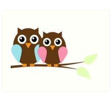 Owl love you Art Print