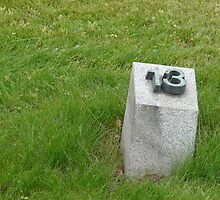 Tombstone No. 13 - fort Terezín (National Suffering Memorial) / number is not random  by Natas