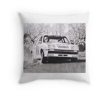 Vauxhall Chevette HSR Works Rally Car Throw Pillow