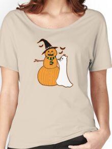 Pumpkin Snowman Women's Relaxed Fit T-Shirt