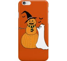 Pumpkin Snowman iPhone Case/Skin