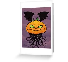 Punkin Monsta Greeting Card