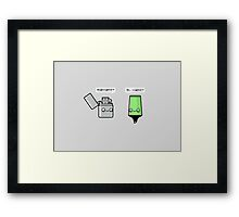 Highlighter Framed Print