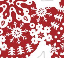 Poodle Christmas Snowflakes Sticker