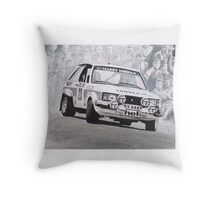 Lotus Sunbeam Works Rally Car Throw Pillow