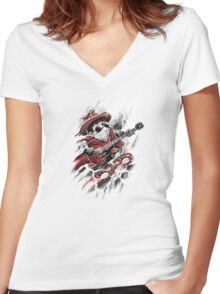 Time Rider Women's Fitted V-Neck T-Shirt