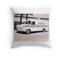 Ford Transit Mk.1 Police Van Throw Pillow