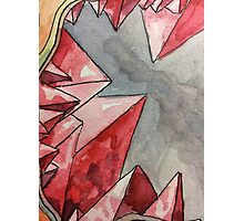 Red Geode Photographic Print