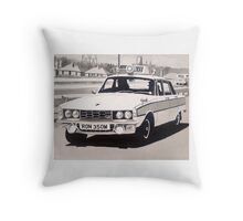 Rover P6 3500 V8 Police Car Throw Pillow