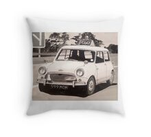 Mini Cooper S Police Car Throw Pillow