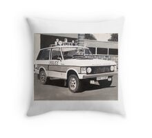 Range Rover Police Car Throw Pillow