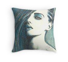 lady fantasy Throw Pillow
