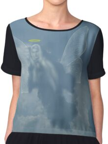I Saw An Angel In The Sky Chiffon Top