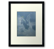 I Saw An Angel In The Sky Framed Print