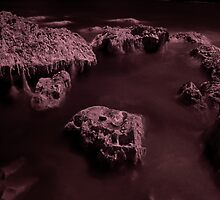 Infra Red - Ghostly Boulders by rennaisance