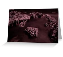 Infra Red - Ghostly Boulders Greeting Card