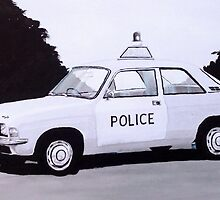 Austin Allegro Police Car by sidfox
