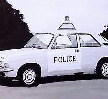 Austin Allegro Police Car by sidfox