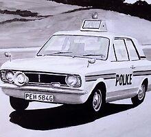 Ford Cortina Mk 1 Cop Car by sidfox