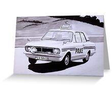 Ford Cortina Mk 1 Cop Car Greeting Card
