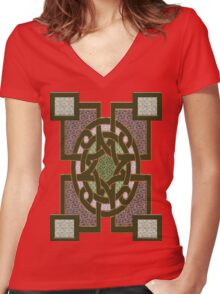 Symbols of the gods Women's Fitted V-Neck T-Shirt