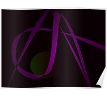 Black Background Abstract Art Poster