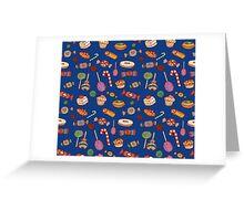 Candy & Bonbon (blue) Greeting Card