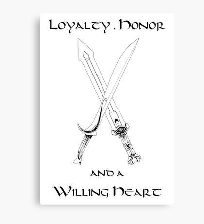 Thorin Oakenshield : Loyalty Canvas Print