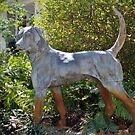 Dog On Alert Statue by Cynthia48