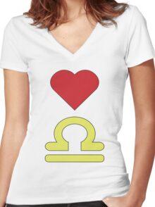 Inner Libra Women's Fitted V-Neck T-Shirt