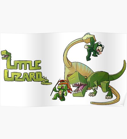 Little lizard Poster