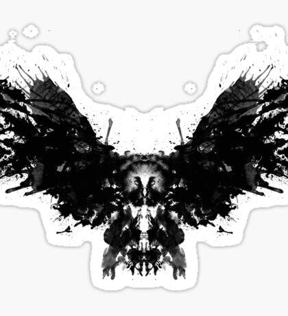 Rorschach Owl Sticker