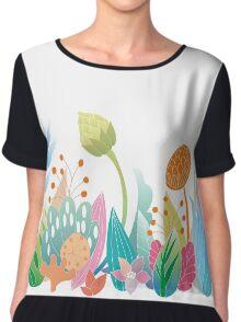 Flower garden Chiffon Top