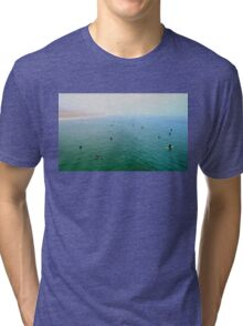"""Manhattan Beach - Early Morning Surf"" Tri-blend T-Shirt"