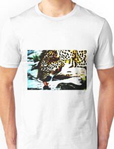 Leopard drinking Unisex T-Shirt