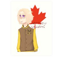 Matthew Williams-Highschool outfit  Art Print