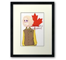 Matthew Williams-Highschool outfit  Framed Print