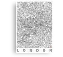 London Map Line Canvas Print