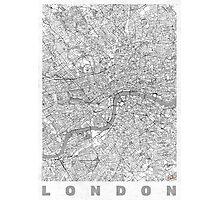 London Map Line Photographic Print