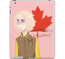 Matthew Williams-Highschool outfit  iPad Case/Skin