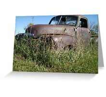 Rust and Grass Greeting Card