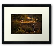 Who let the horse out? II Framed Print