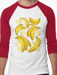 Banana Fruity Pattern  Men's Baseball ¾ T-Shirt