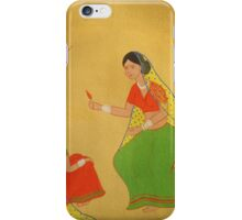 Village Girls Giving Chili To Parrot iPhone Case/Skin