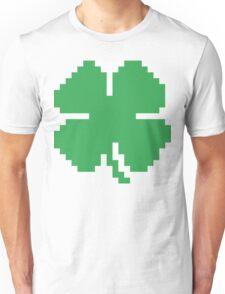 8 Bit Pixel Lucky Four Leaf Clover Unisex T-Shirt
