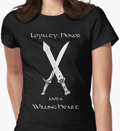 Thorin Oakenshield : Loyalty  -white- Womens Fitted T-Shirt