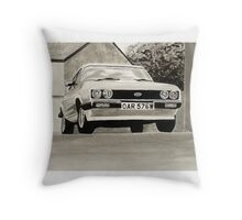 'The Professionals' Mk.3 Ford Capri 3.0s Throw Pillow