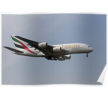 Emirates A380 Airbus Poster