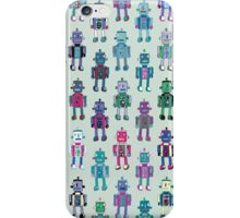 GoggleBots - robot pattern iPhone Case/Skin
