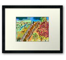 French Countryside, by Roger Pickar, Goofy America Framed Print